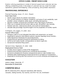 office clerk skills resume sample cv english resume office clerk skills resume front desk clerk skills for resume cover letters and resume sample resume