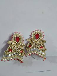 Buy Kalindi God/<b>Goddess Red Silver</b> Pearl Mukut - Pack of 2 ...