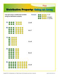 Distributive Property: Using an Array | 3rd Grade Math WorksheetsMath Worksheets