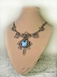 Купить <b>Колье</b> Эндрита (свет ) - wire wrap, <b>голубой</b>, <b>колье</b>, подарок ...