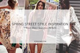 Spring Street Style Inspiration: 3 Must-Have <b>Kimono Jackets</b> ...
