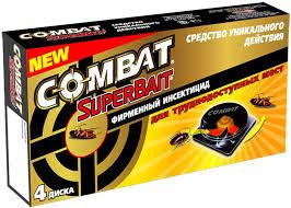 """Ловушки для тараканов """"<b>Combat</b> SuperBait"""", 4 шт — купить в ..."""