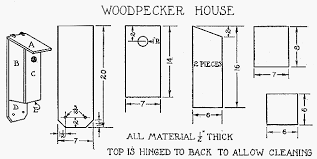 Build a Woodpecker House    Bird House Plan
