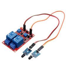 2 Channel <b>Flame Sensor</b> Relay <b>Module</b> Alarm <b>Flame Flare</b> ...