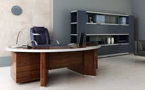 modern office design ideas with astounding brown wooden furnished white edge and attractive legs support also attractive modern office desk design