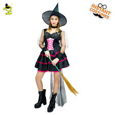 Deluxe Women Sexy <b>Witch Costume</b> Short Dress Costumes Pretty ...