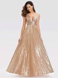 Wedding Guest Dress Party <b>Women Sexy V Neck Sequin</b>|Ever ...
