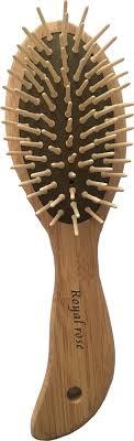 Щетка для волос на подушке деревянная овальная с ...