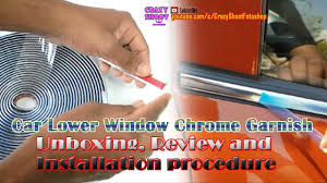 Car Chrome Strips beading trim roll unboxing and installation 10 ...