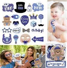 <b>20pcs</b> Baby Shower Photo Booth Props <b>Little Boy</b> Girl New Born ...