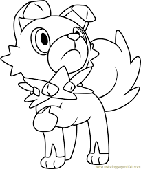 Small Picture Rockruff Pokemon Sun and Moon Coloring Page Free Pokmon Sun and