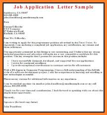 Employment Application Cover Letter  sample cover letter for job