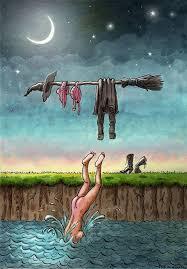 Skinny Dipping Witch Cartoons via Relatably.com