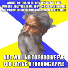 Willing to forgive all of mankind for rape, murder, adultery,theft ... via Relatably.com