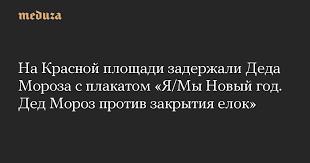 На Красной площади задержали <b>Деда Мороза с</b> плакатом «Я ...