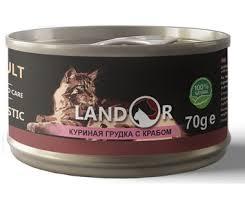 <b>Landor Консервы</b> для кошек, с <b>куриной</b> грудкой и крабом | ФУР-ФУР