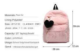 Moon Wood <b>Women's Fur Backpack</b> White Winter <b>Backpack</b> Fashion ...