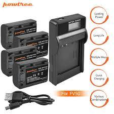 NP-FV50 Battery+Charger For <b>Sony</b> Handycam DCR-SR68 SR88 ...
