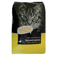 Сухой корм <b>Tasty для взрослых кошек</b>, курица, 10 кг (2879593 ...