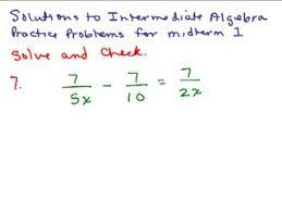 Intermediate Algebra Review Series of Videos   Math Help and     Intermediate Algebra Review Part   preview image
