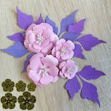 <b>5pcs</b>/<b>set Flowers Metal Cutting</b> Dies Scrapbooking Embossing ...