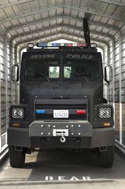 In Irvine, 'America's Safest' <b>city</b>, <b>armored SWAT truck</b> is seldom needed