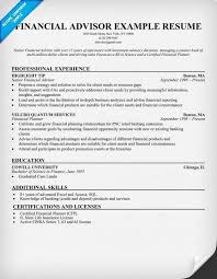skill resume resume financial industry financial resume model for golden career opportunities financial advisor resume career advisor resume