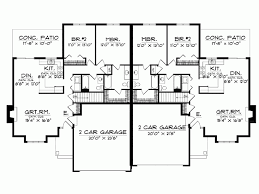Eplans Ranch House Plan   Ranch Style Stucco Duplex   Square    Level