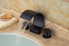 rubbed bronze waterfall bathroom