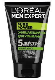 L'Oreal Men Expert: <b>Очищающий гель</b> для умывания с <b>черным</b> углем