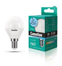<b>Camelion LED5</b>-G45/<b>845</b>/<b>E14</b> (Эл.<b>лампа светодиодная</b> 5Вт 220В)