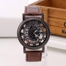 Fashion <b>Business Skeleton Watch</b> Men Engraving Reloj Hombre ...