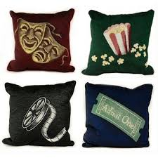 themed family rooms interior home theater: great pillows for a home theater family room