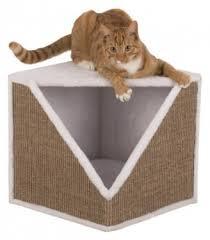 Домик- когтеточка для кошки Trixie <b>Ofelia</b>, 40*38*40 см, белый ...