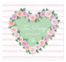 <b>Heart</b> decorated with <b>roses</b> template. Birthday, <b>wedding invitation</b> ...