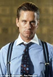 ... while employed as an intern at Bank of America Merill Lynch, said he modelled himself on Gordon Gekko (right), played by Michael Douglas in Wall Street - article-2399336-0C70349900000578-39_308x443