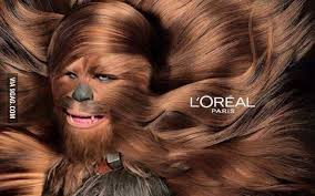 Image result for wookie loreal ad