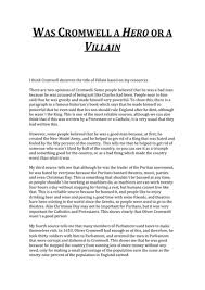 villain essay  odolmyfreeipme essay was cromwell a hero or a villain by franviajero essay was cromwell a hero or