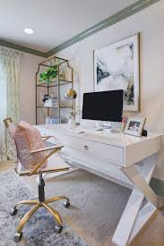 sophisticated feminine home office honey were home sita montgomery beautiful home office makeover sita