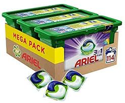 Ariel <b>3-in-1</b> Pods Colour and Style, Washing <b>Liquid</b> Capsules, 114 ...