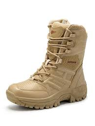 Milanoo <b>Mens</b> Military Boots Hiking Boots <b>Outdoor</b> Mountain ...