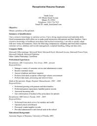 salon receptionist resume summary salon receptionist work salon receptionist resume format receptionist resume professional experiences