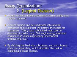 Essay Organization Logical Division Grouping related items according to some quality SlidePlayer BestWeb