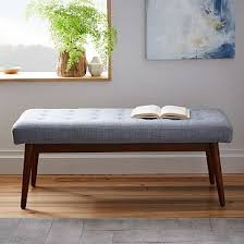 storage bench for living room: hit the bench our mid century storage bench is crafted from fscar certified wood adding modern day sustainability to its timeless style