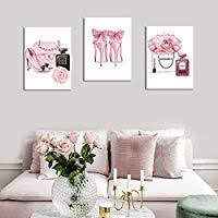 Fashion Women Art Print Pink High Heels Flowers ... - Amazon.com