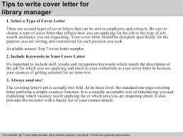 library manager cover letter      tips to write cover letter for library manager