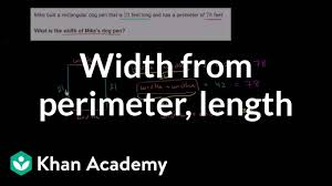 Finding <b>width</b> from perimeter and length | Measurement | Pre ...