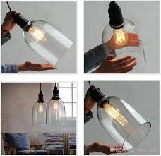 condition 100 brand new material metal glass base socket light blub e27 bulb included edison bulb size diameter 160mm h 330mm ceiling pendants lighting