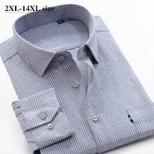 8XL 9XL 10XL 11XL 12XL 14XL <b>Large Size Men's Business</b> Striped ...