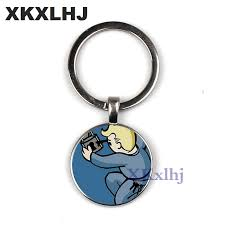 <b>XKXLHJ New Fallout Nuka</b> Cola keychain llavero Glass and alloy ...